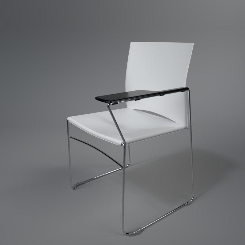interior rim web desk 3D model