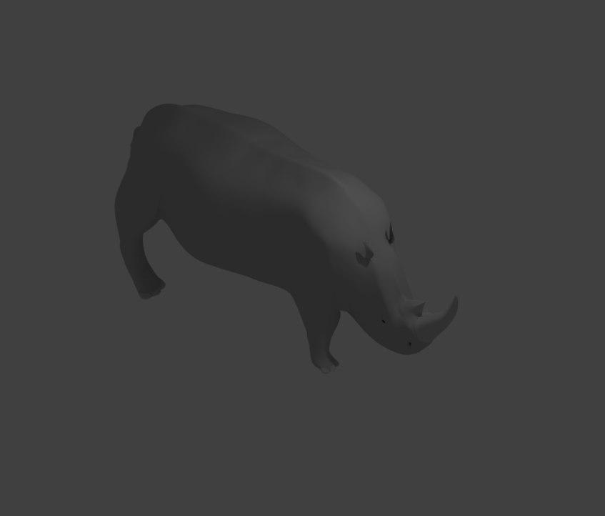 wildlife animals rhino 3D