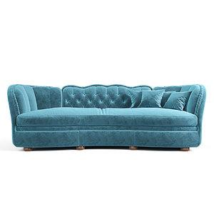- sofa muscari epoque 3D model
