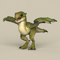 ready fantasy dragon baby model