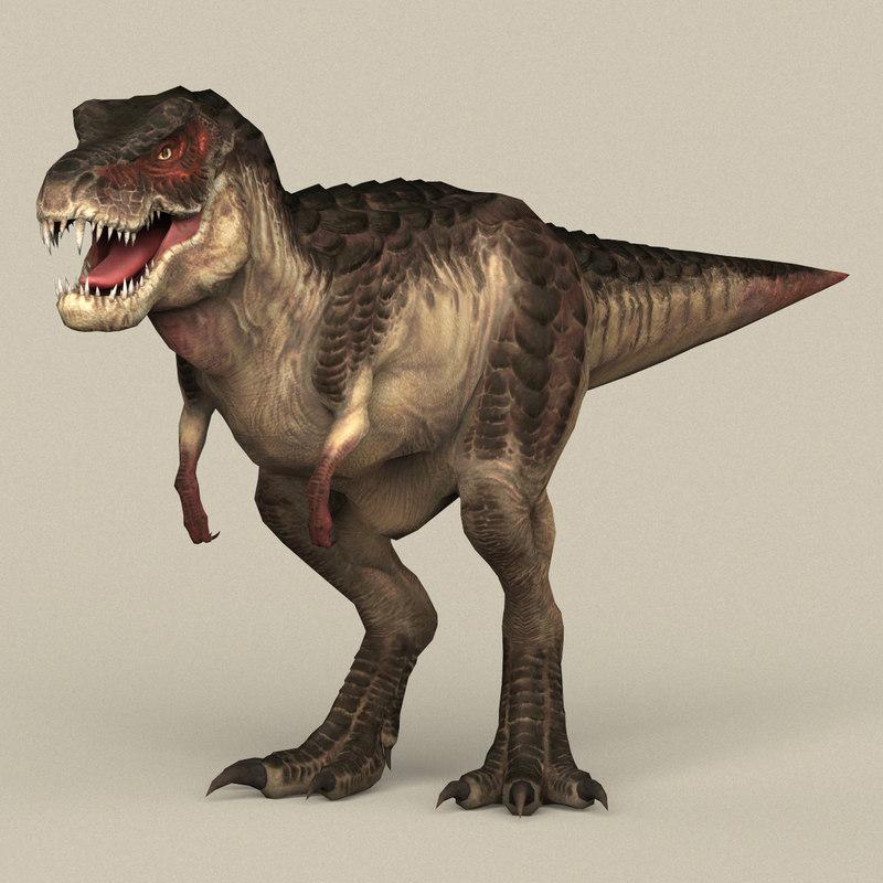 3D model ready dinosaur trex