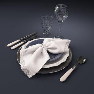 tableware set 3D model
