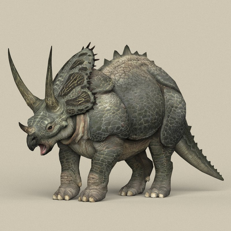 3D ready dinosaur triceratops