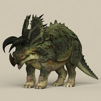 3D model ready dinosaur triceratops
