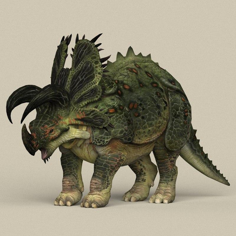 3D model ready dinosaur triceratops