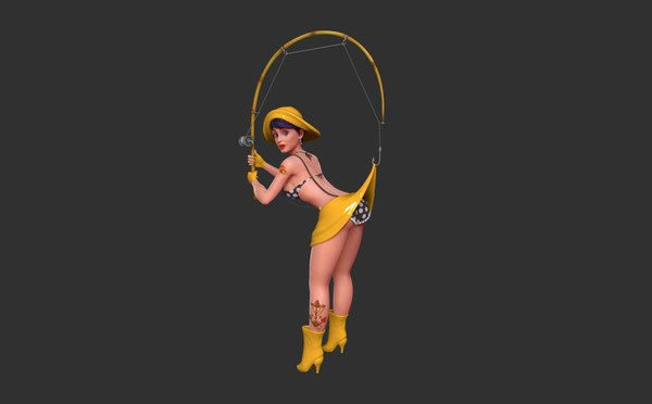 pin fisher girl 3D