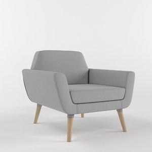 3D nordic scope armchair model