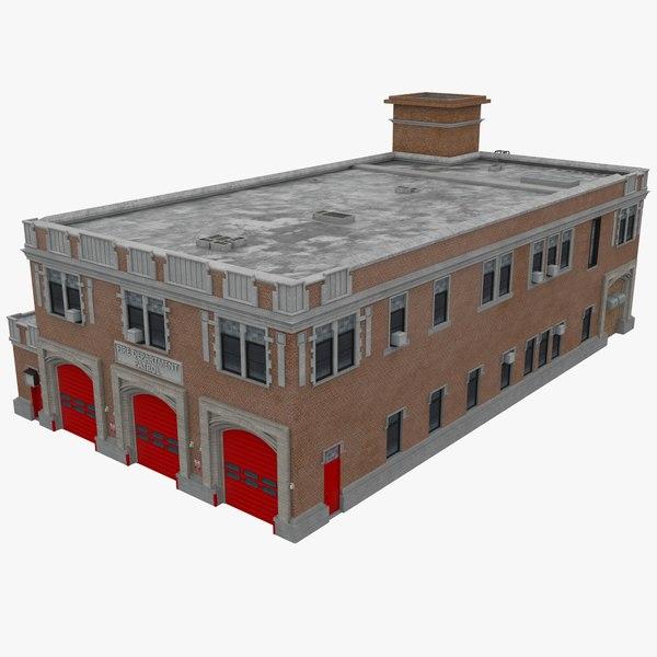 firehouse structure architecture 3D model