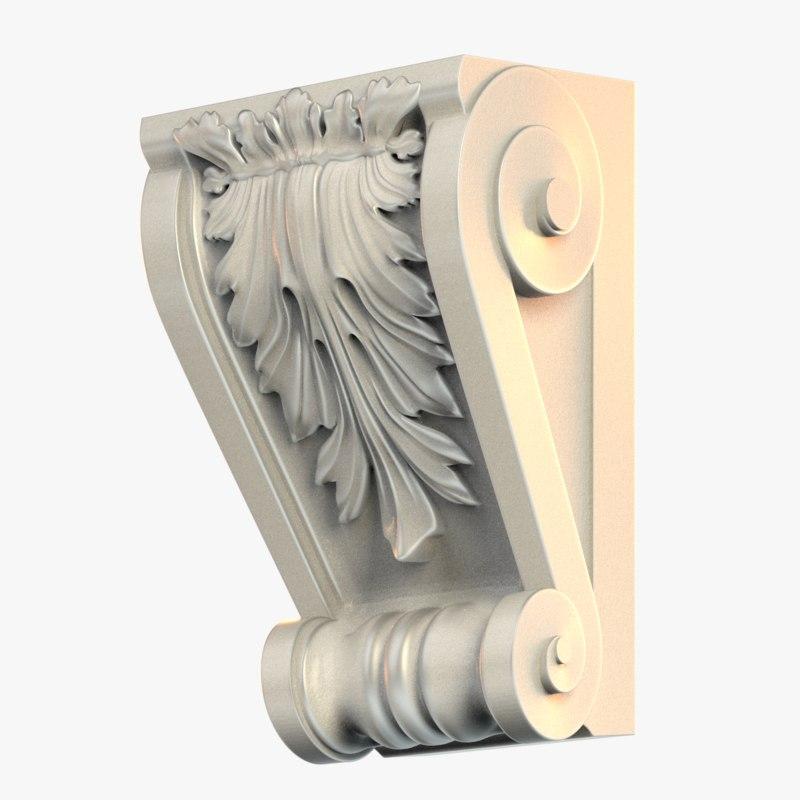 3D corbel molding decor