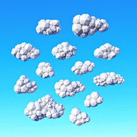 3D clouds pack model