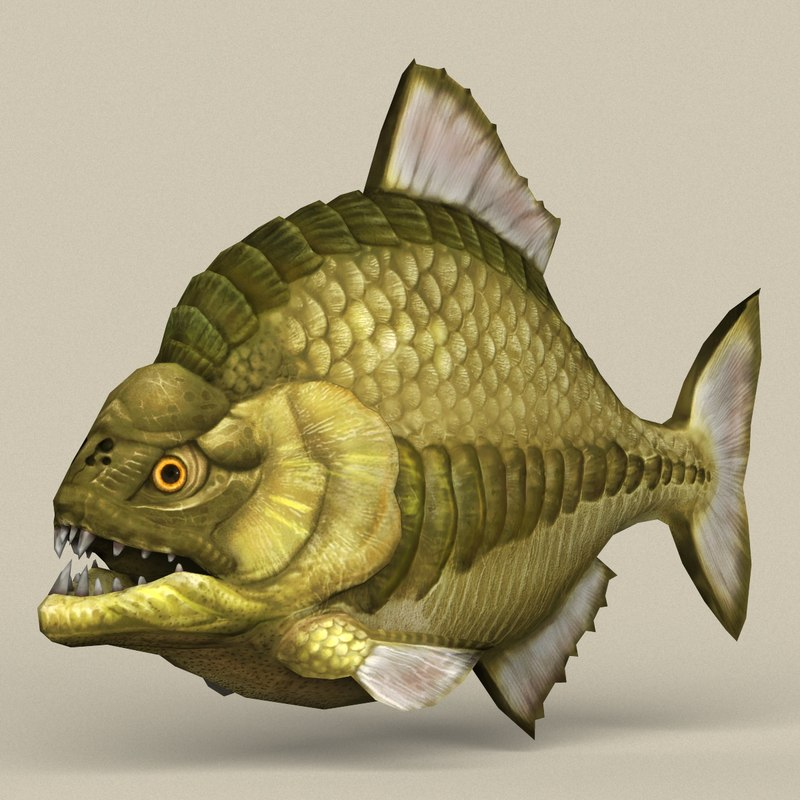 ready monster fish 3D model