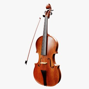 3D violin violinbow