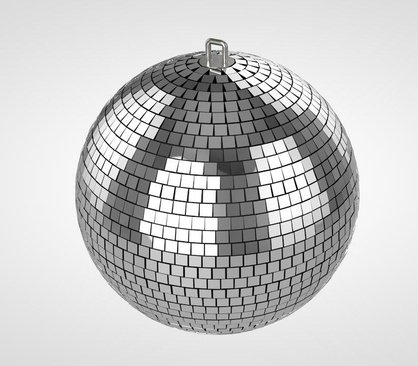 3D disco ball model
