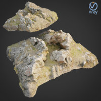 3D scanned rock cliff j2