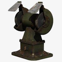 workshop grinder 3D model