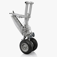 landing gear business jet 3D