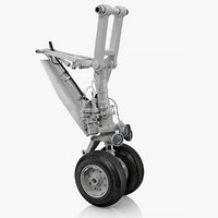 landing gear business jet 3D