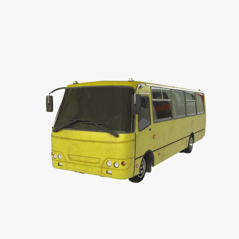 3D russian town bus games