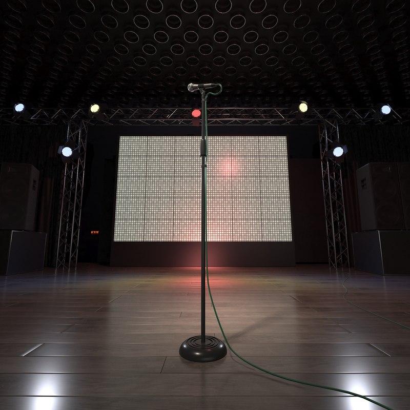 3D model club stage light