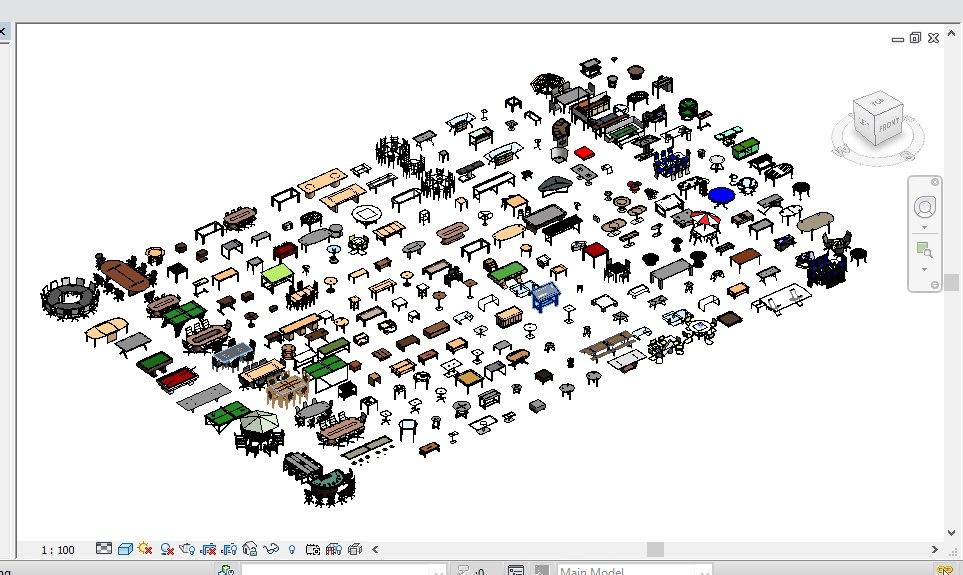 239 tables revit 2015 3D model