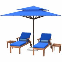 3D lounge chair umbrella