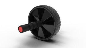 gym equipment ab wheel 3D