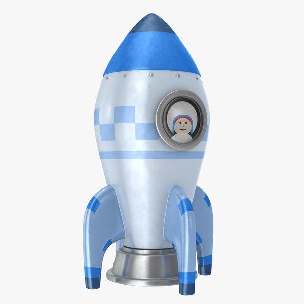 3D toon rocket model