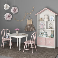 Furniture and accessories for girls room