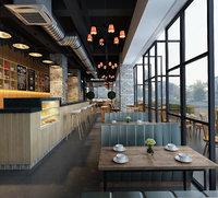 3D modern restaurant interior