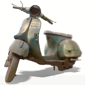old bike scanned 3D