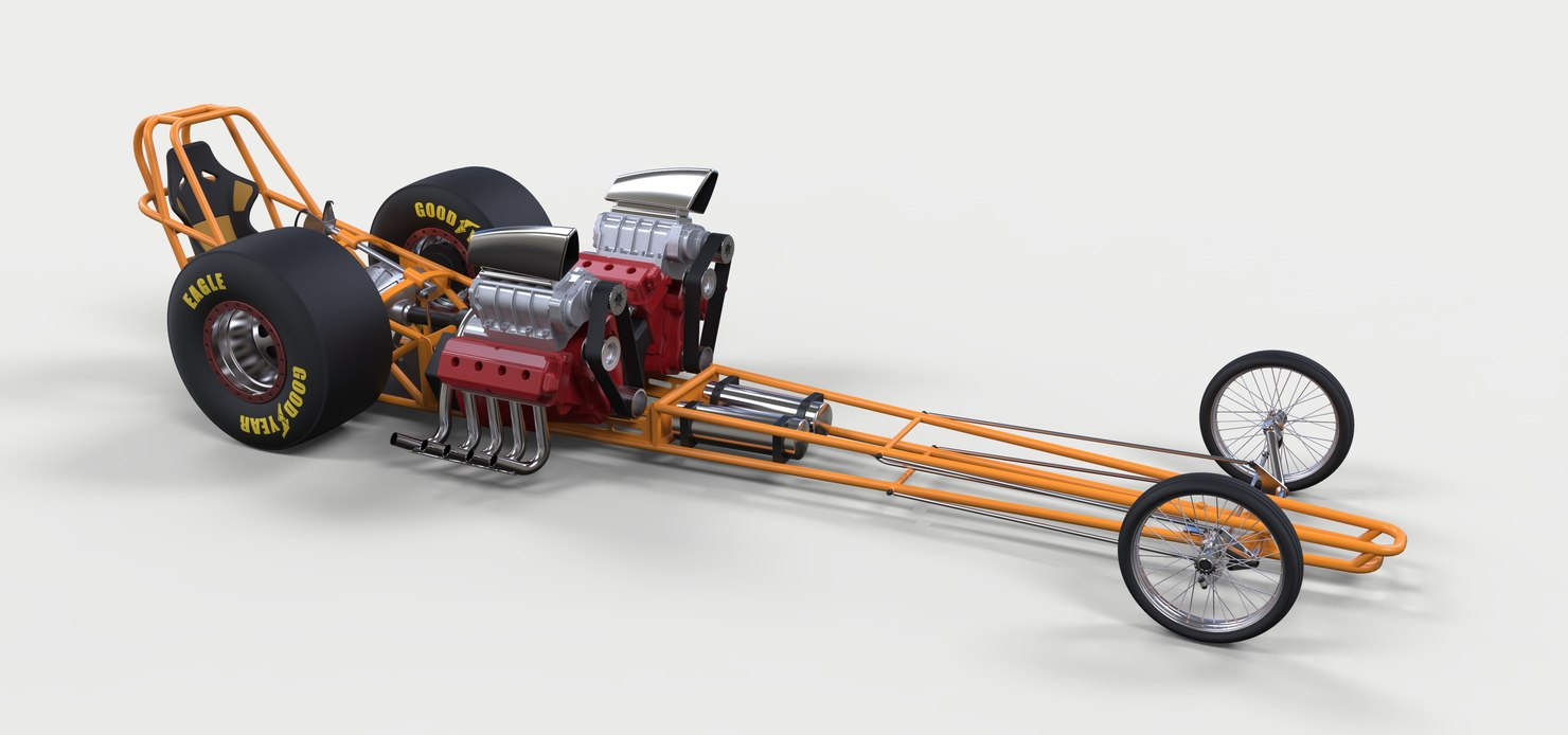 drag dragster 3D model