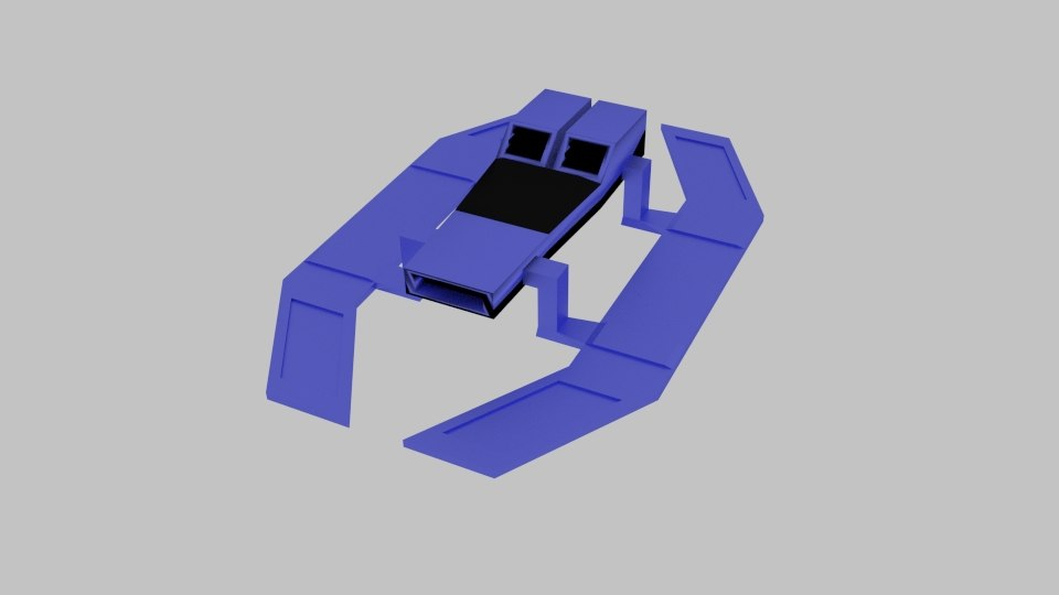 spaceship d 5 3D model