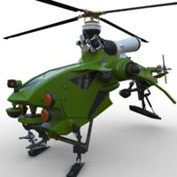 helicopter aircraft copter 3D model