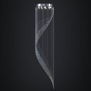 chandelier light lamp 3D