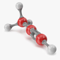 3D propyne molecular