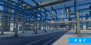 refinery vr ar 3D model