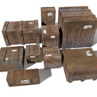 Transport crates Pack1 PBR