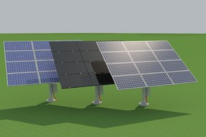 solar panels tracking cell 3D model