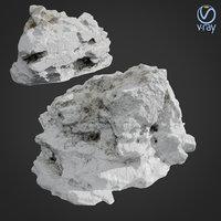 3D scanned rock cliff d model