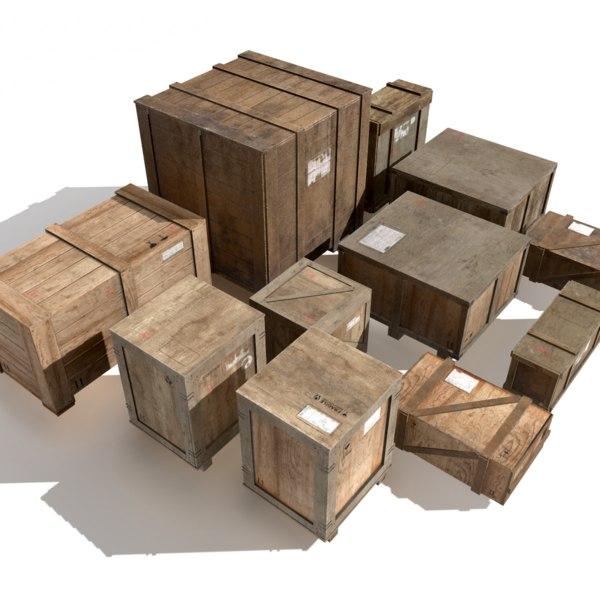crates unity 3D model