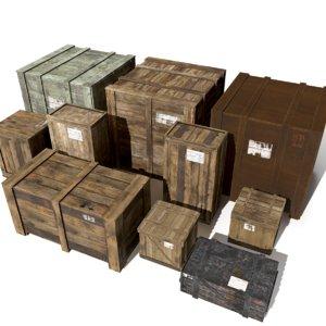 3D model crates unity