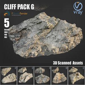 3D cliff pack g model