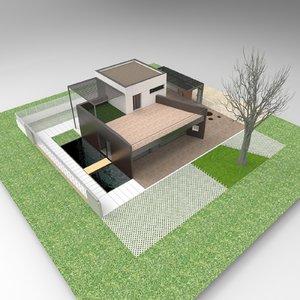 housing home plot 3D model