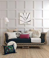 bamboo sofa rattan chair 3D model