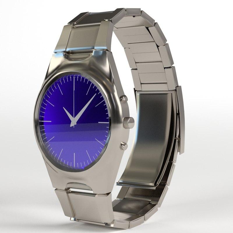 3D wrist watch model