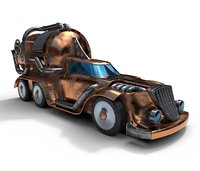 retro car steampunk pbr 3D model