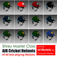 3D cricket helmets