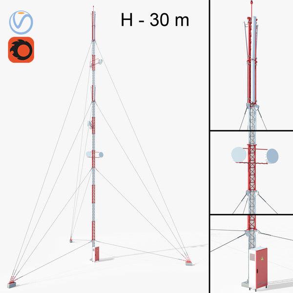 3D model communication tower