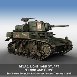 3D m3a1 light tank stuart