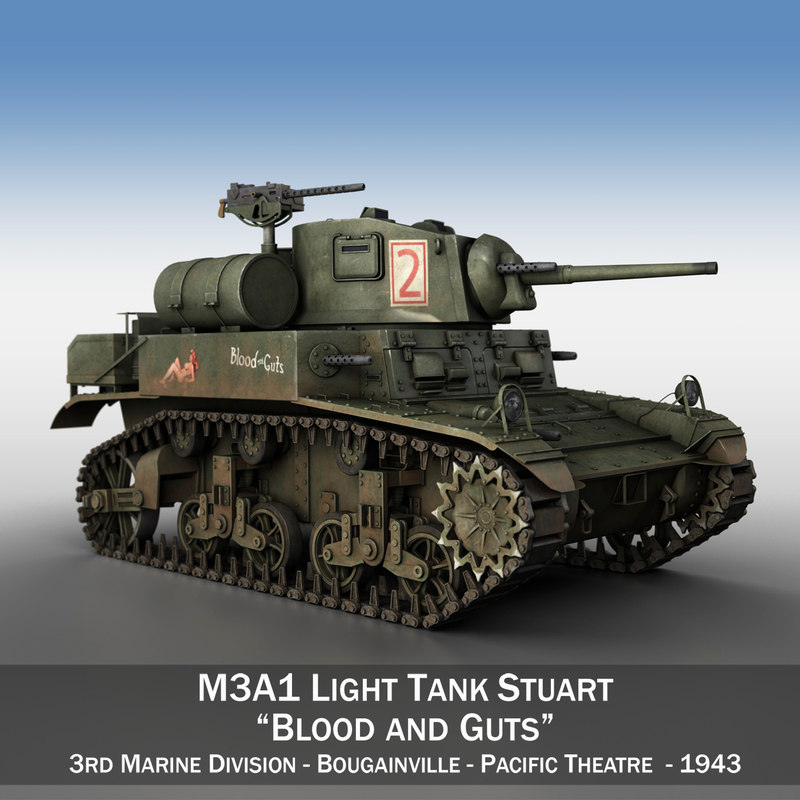 3D m3a1 light tank stuart